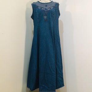 Roaman's | Casual Denim Blue Jeans Dress